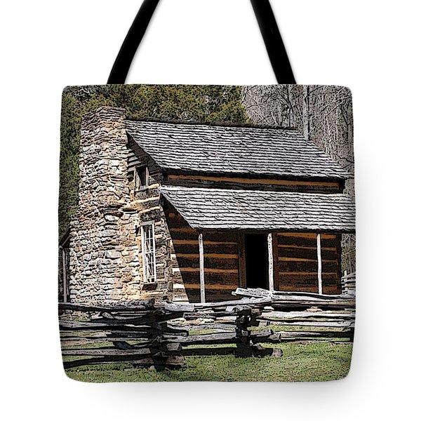 Cades Cove Old Cabin Art01 Tote Bag