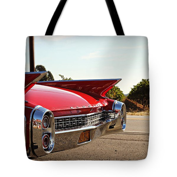 Cadillac In Wine Country  Tote Bag