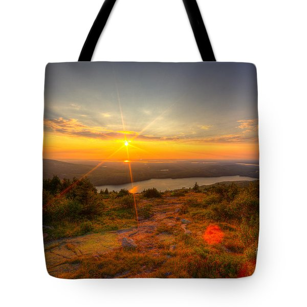 Cadillac Mountain Sunset Acadia National Park Bar Harbor Maine Tote Bag