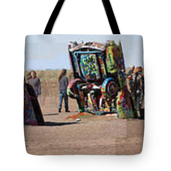 Cadillac Ranch Horizon Tote Bag