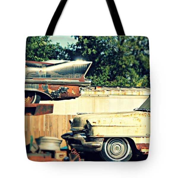 Cadillacs In Decay Tote Bag