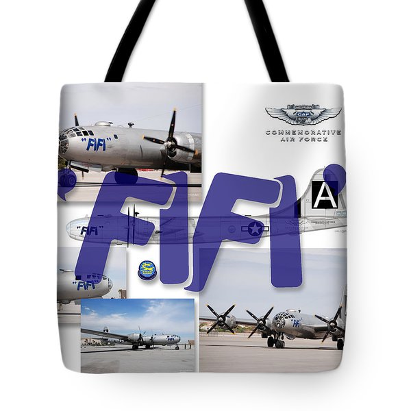 Tote Bag featuring the digital art Caf B-19 Fifi by Arthur Eggers