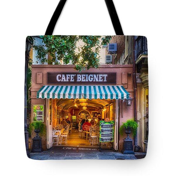 Cafe Beignet Morning Nola Tote Bag by Kathleen K Parker