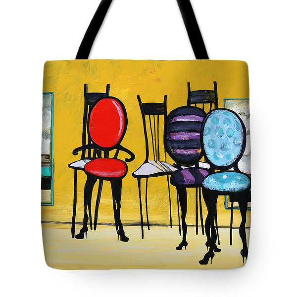 Cafe Chairs Tote Bag by Karon Melillo DeVega