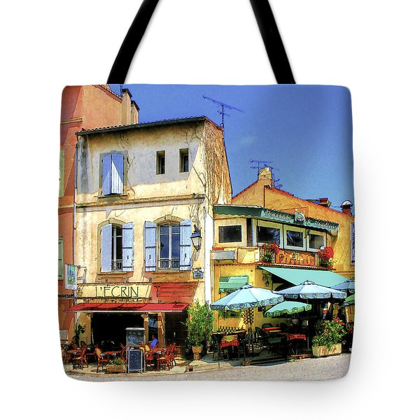 Cafe Corner Tote Bag by Douglas J Fisher