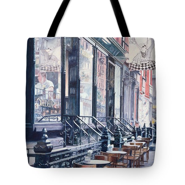 Cafe Della Pace East 7th Street New York City Tote Bag by Anthony Butera