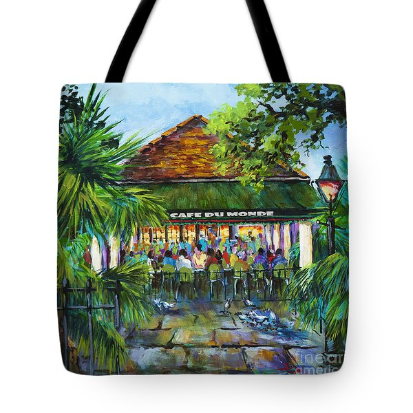 Tote Bag featuring the painting Cafe Du Monde Morning by Dianne Parks