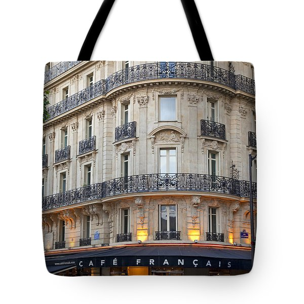 Cafe Francais Tote Bag by Brian Jannsen
