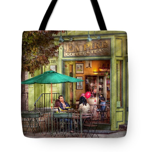 Cafe - Hoboken Nj - Empire Coffee And Tea Tote Bag by Mike Savad
