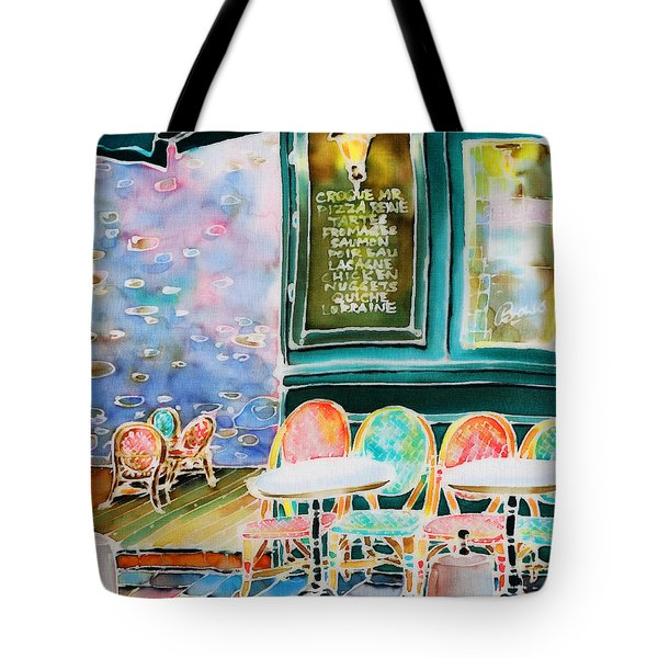 Cafe In Montmartre Tote Bag