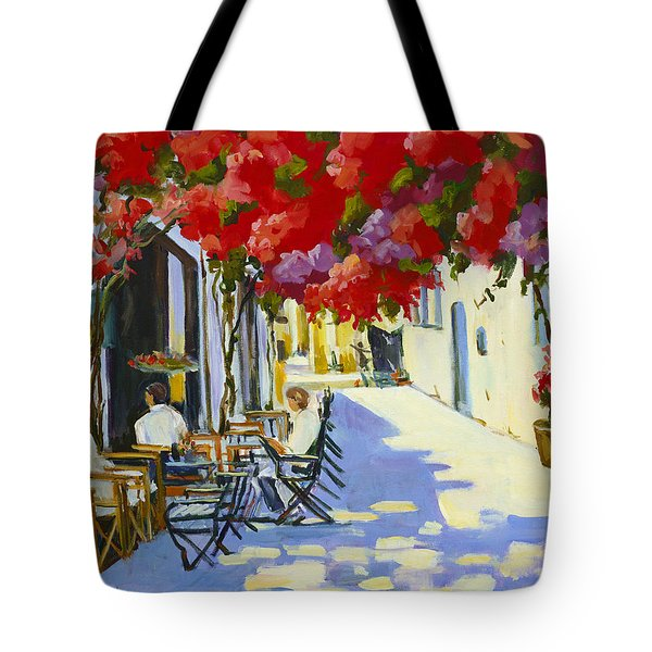 Cafe Tote Bag by Alexandra Maria Ethlyn Cheshire