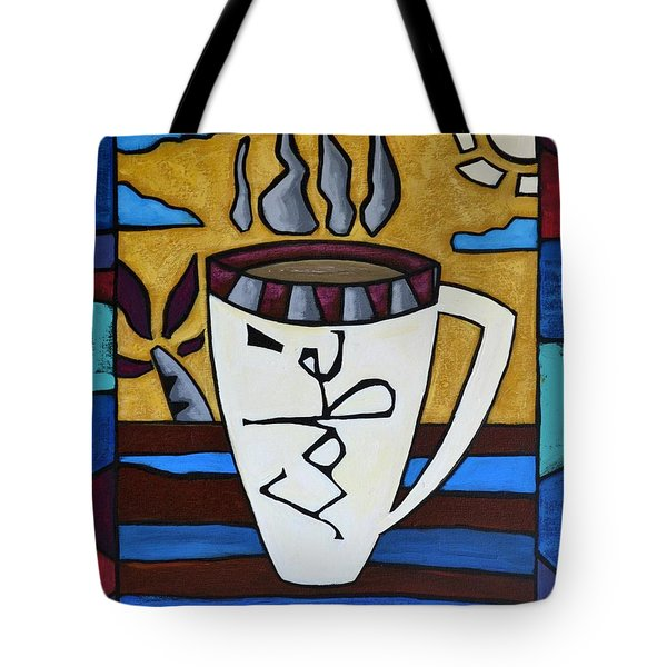 Tote Bag featuring the painting Cafe Resto by Oscar Ortiz
