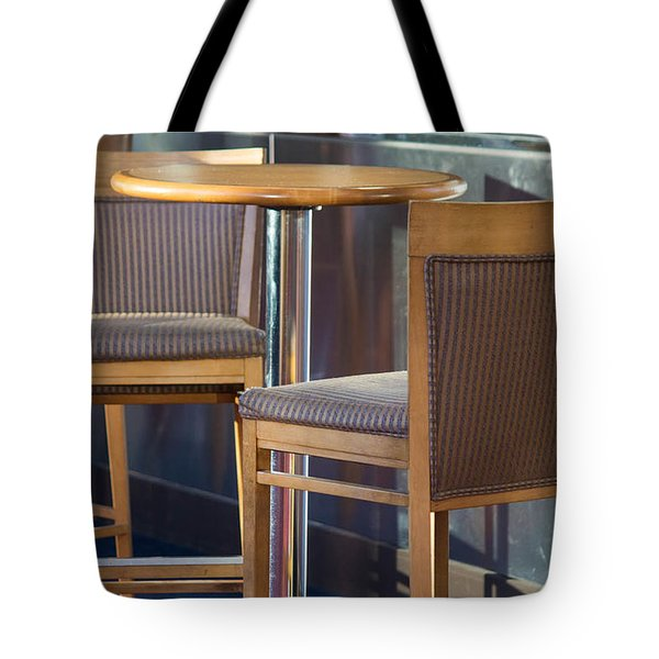 Tote Bag featuring the photograph Cafe by Patricia Babbitt