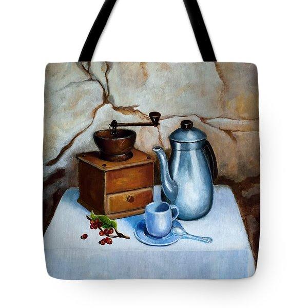 Cafe Puya Tote Bag by Edgar Torres