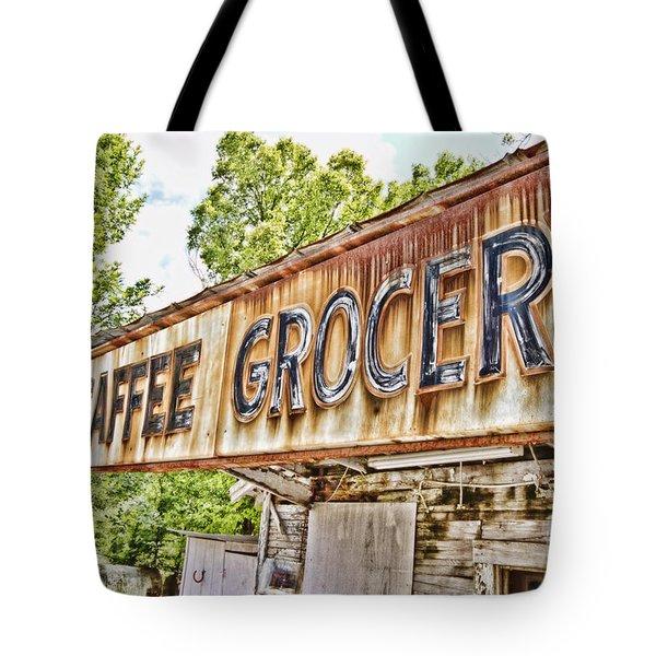 Caffee Grocery Tote Bag by Scott Pellegrin