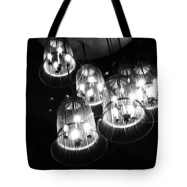Caged Lights Tote Bag by Justin Woodhouse