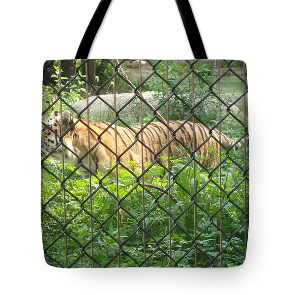Tote Bag featuring the photograph Caged by Fortunate Findings Shirley Dickerson