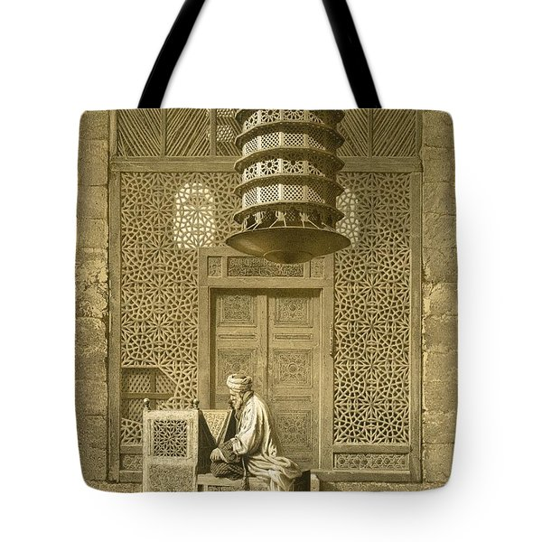 Cairo Funerary Or Sepuchral Mosque Tote Bag by Emile Prisse d'Avennes
