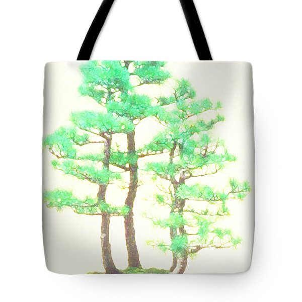 Caitlin Elm Bonsai Tree Tote Bag by Marian Cates
