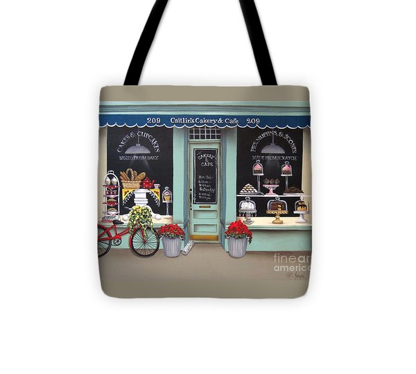Caitlin's Cakery And Cafe Tote Bag by Catherine Holman