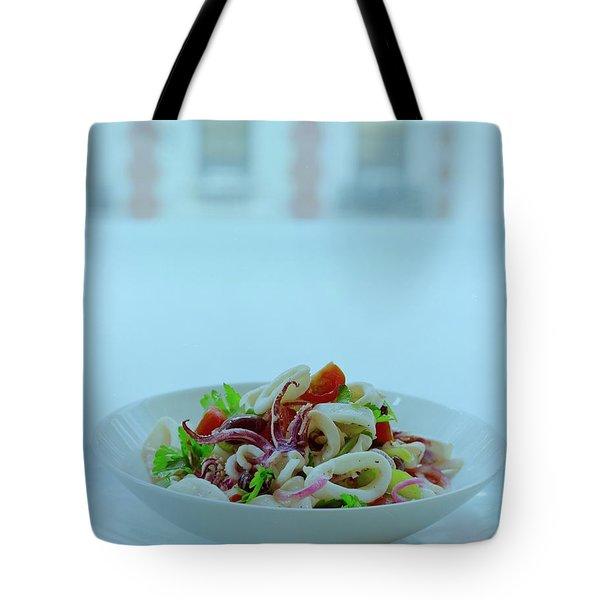 Calamari Salad Tote Bag