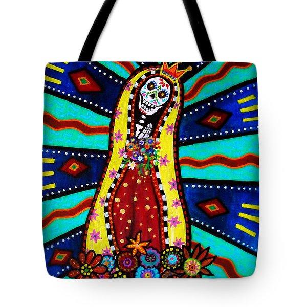 Calavera Virgen Tote Bag by Pristine Cartera Turkus