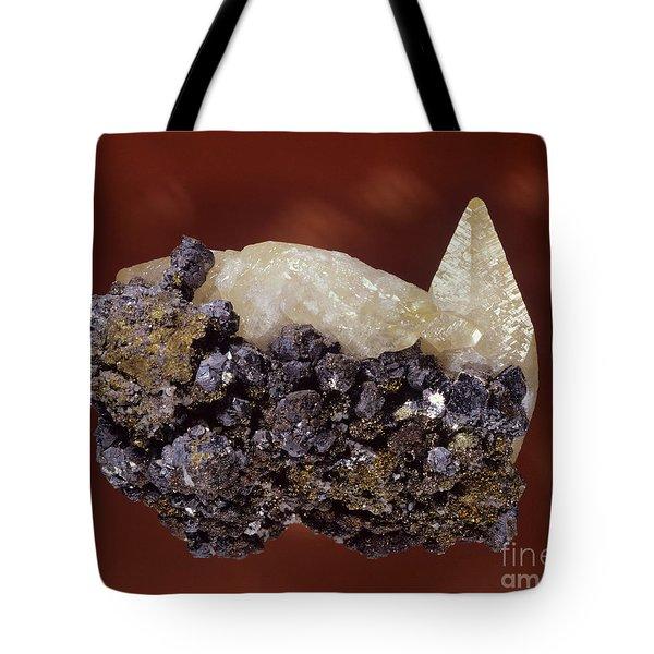 Calcite Crystal Tote Bag by Hermann Eisenbeiss