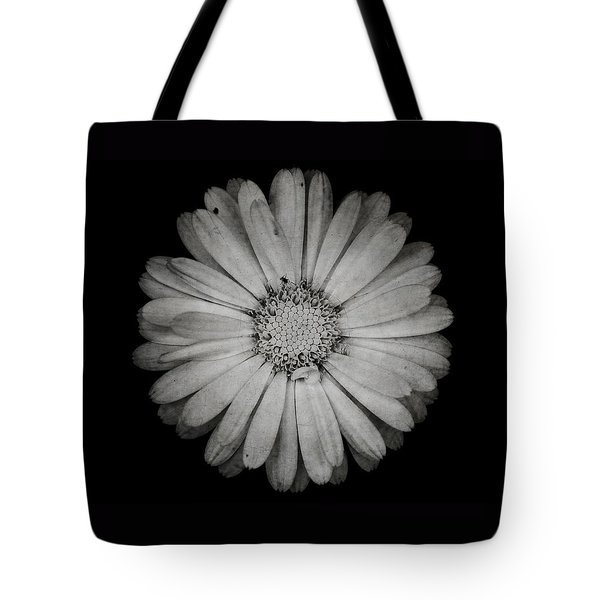 Tote Bag featuring the photograph Calendula Flower - Textured Version by Laura Melis