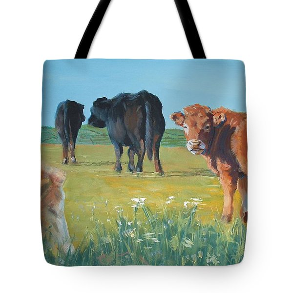 Calf Painting Tote Bag