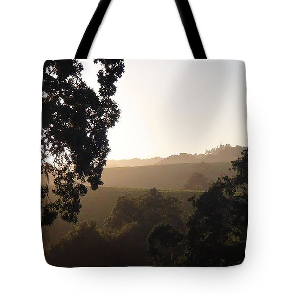 Tote Bag featuring the photograph Cali Sun Set by Shawn Marlow