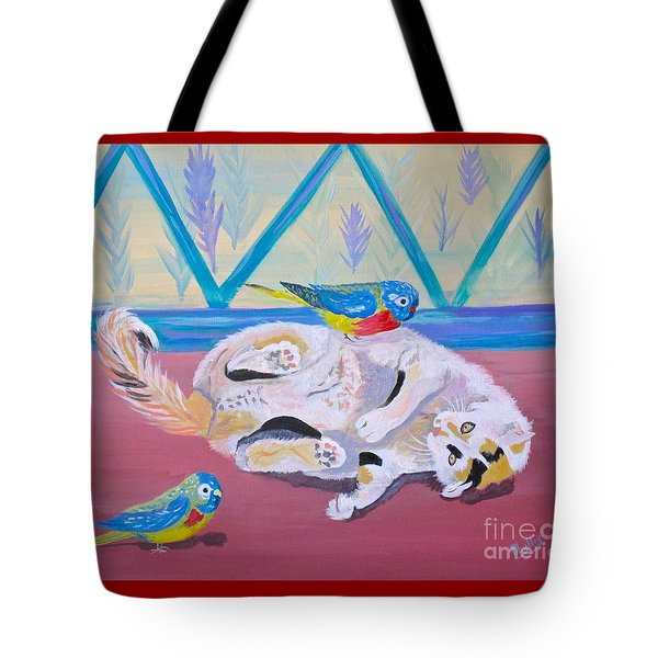 Calico And Friends Tote Bag by Phyllis Kaltenbach