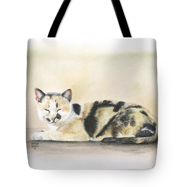 Calico Tote Bag by Heather Gessell