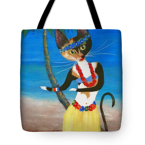 Calico Hula Queen Tote Bag by Jamie Frier