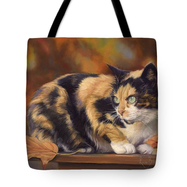 Calico In The Fall Tote Bag