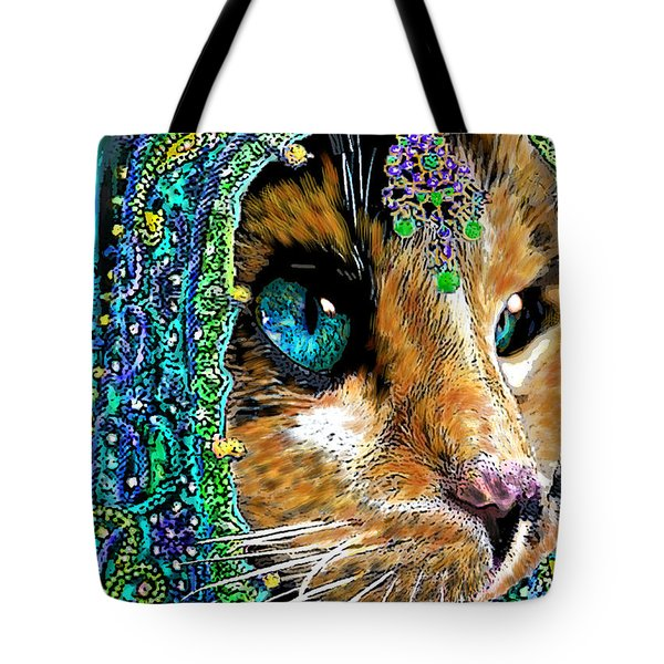 Calico Indian Bride Cats In Hats Tote Bag