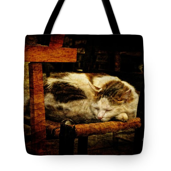 Calico Tote Bag by Lois Bryan