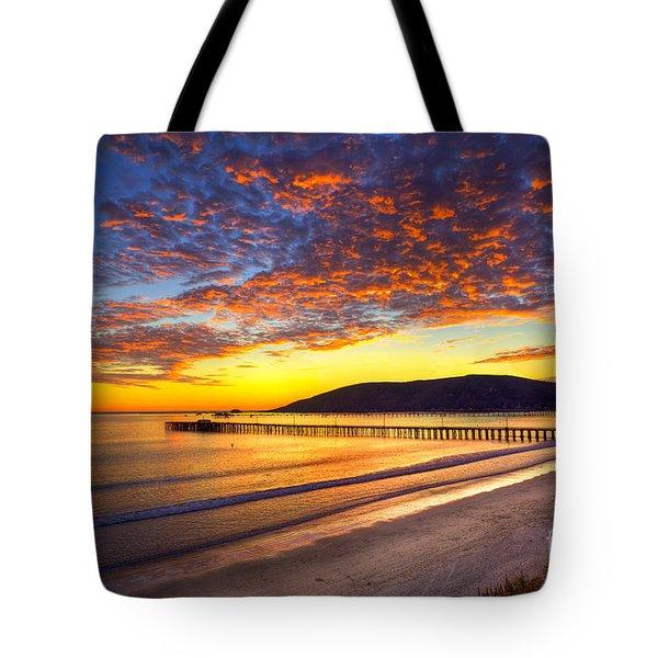 Avila Beach Sunset Tote Bag