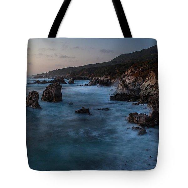 California Coast Dusk Tote Bag by Mike Reid