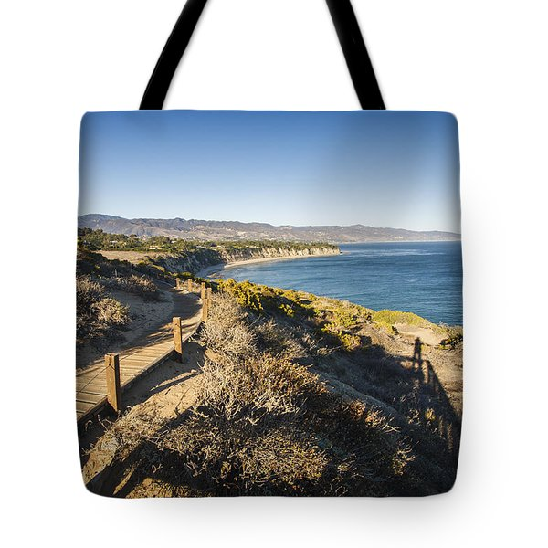 California Coastline From Point Dume Tote Bag by Adam Romanowicz
