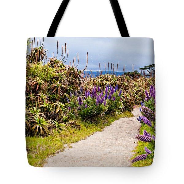 California Coastline Path Tote Bag