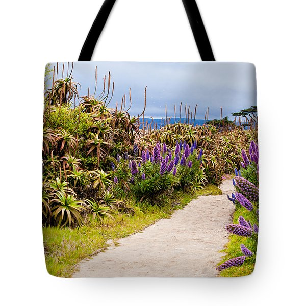 California Coastline Path Tote Bag