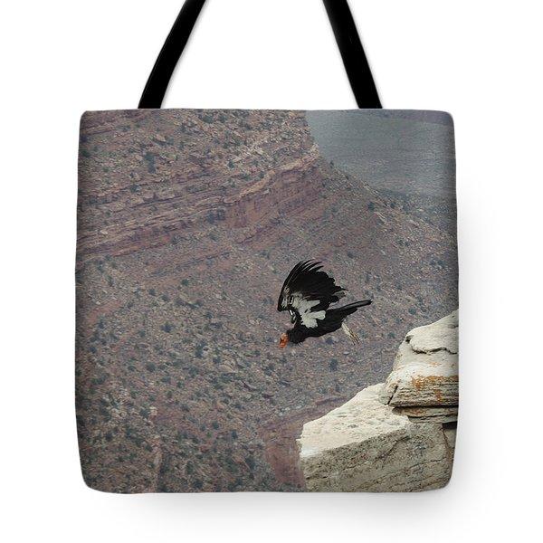 California Condor Taking Flight Tote Bag