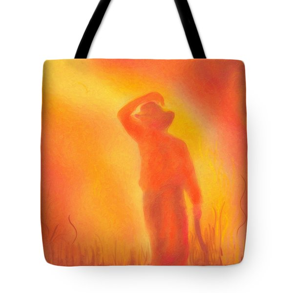 California Fires Tote Bag by Angela A Stanton