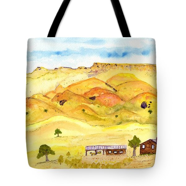 California Foothill Homestead Tote Bag