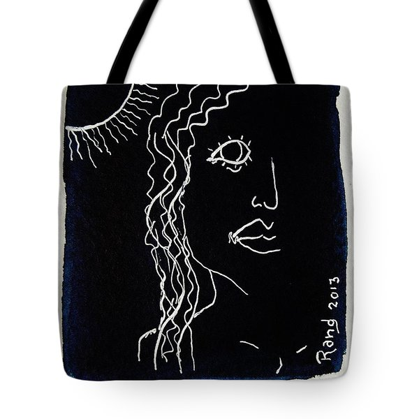 Tote Bag featuring the painting California Girl by Rand Swift