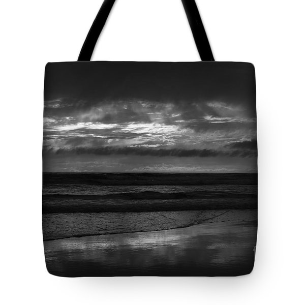 Tote Bag featuring the photograph  Cardiff Godrays by John F Tsumas