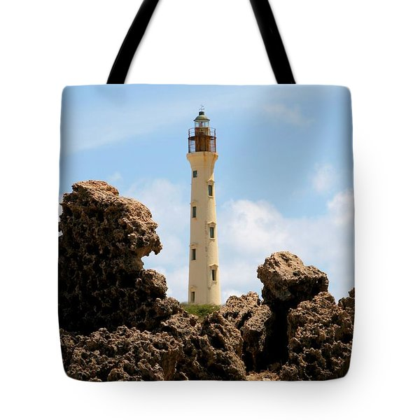 California Lighthouse Aruba Tote Bag