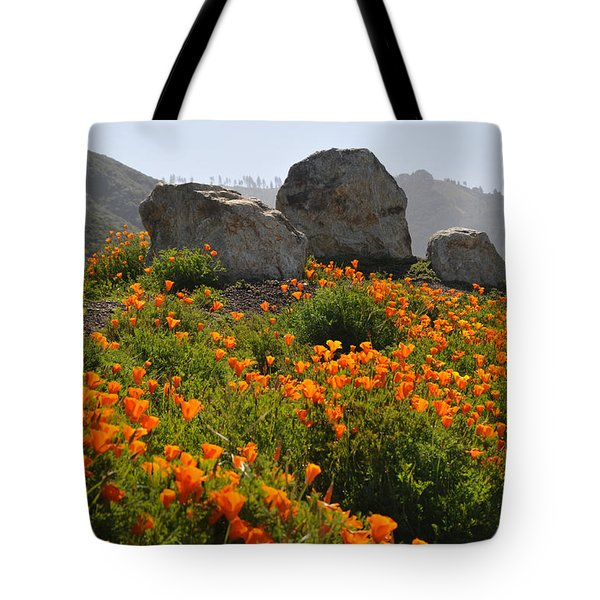 Tote Bag featuring the photograph California Poppies by Lynn Bauer