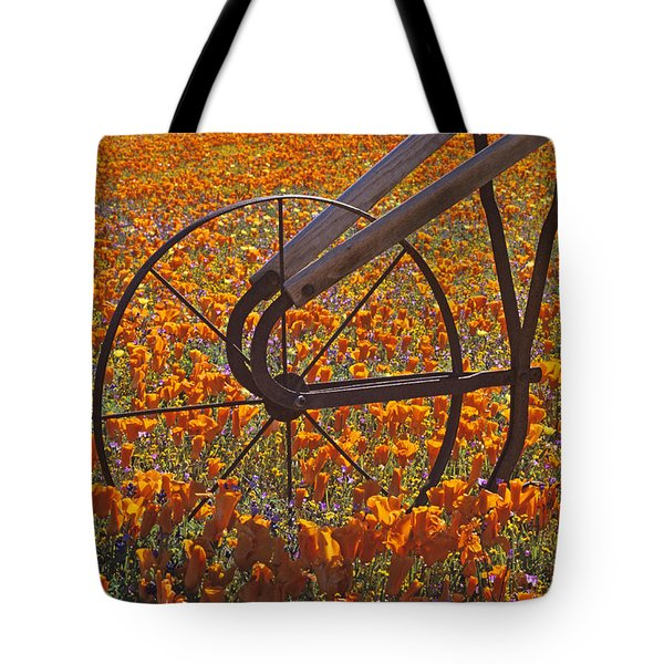 California Poppy Field Tote Bag