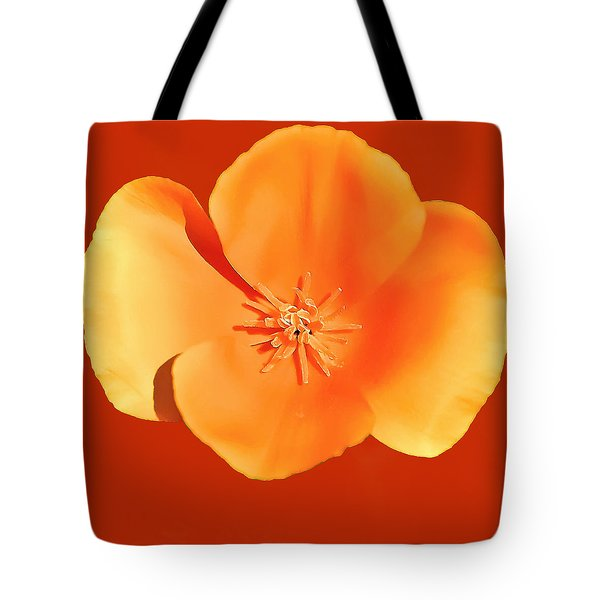 California Poppy Painting Tote Bag